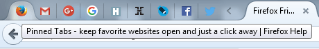 firefox pin tab one click open