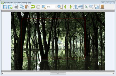 Free Screen Video Recorder область захвата