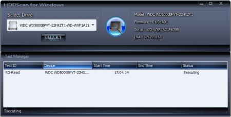 HDDScan выбор диска