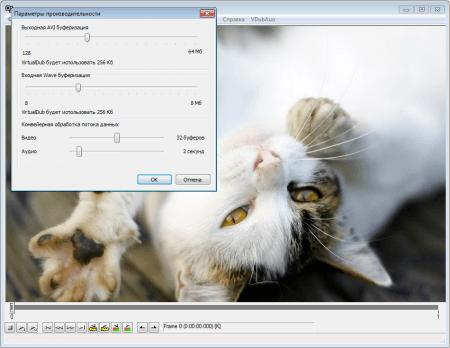 VirtualDub парметры производительности